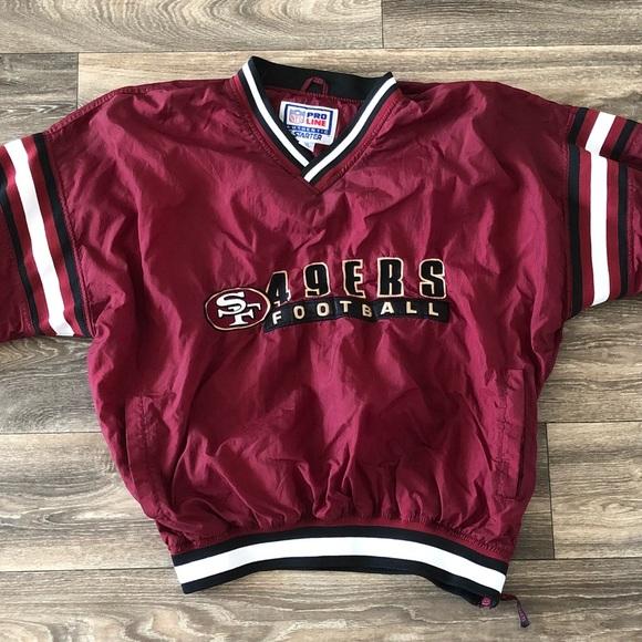 save off ef705 3ea62 Vintage 49ers Starter pullover
